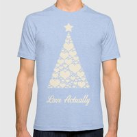 Love Actually Mens Fitted Tee Tri-Blue SMALL