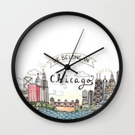 We Belong In Chicago Wall Clock