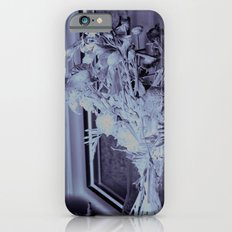 A lone vase full of withered flowers iPhone 6 Slim Case