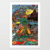 A Land Of Chaos Art Print