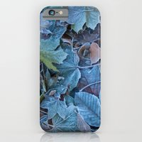 Frosted leaves iPhone 6 Slim Case