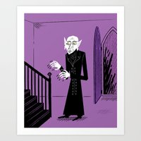 The Halloween Series - Nosferatu - Purple version Art Print