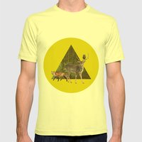 Forest Creatures Mens Fitted Tee Lemon SMALL