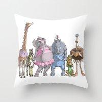 Animal Mural Crew Throw Pillow
