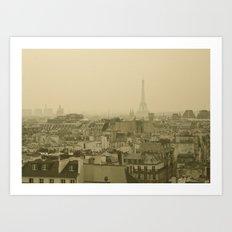 Paris from Above Art Print