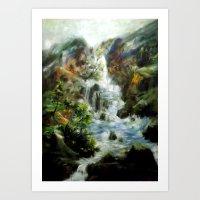 Wasserfall von Orontes Art Print