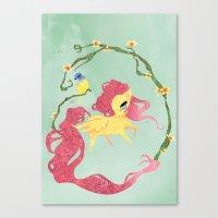 Fluttershy Canvas Print