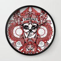 Red Serpent Queen Wall Clock