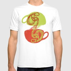 Coffee and tea time SMALL White Mens Fitted Tee