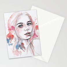 Singing of passion, watercolor Stationery Cards
