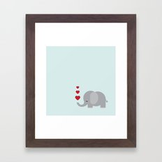 Sweet Elephant Framed Art Print