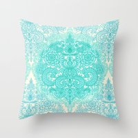 Happy Place Doodle In Mi… Throw Pillow