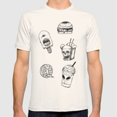 Monster Food Mens Fitted Tee Natural SMALL