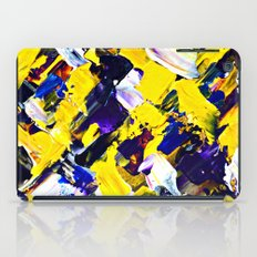 Yellow Intersections iPad Case