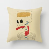 Square Skull...   Throw Pillow