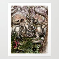 Discovering The Breeding… Art Print