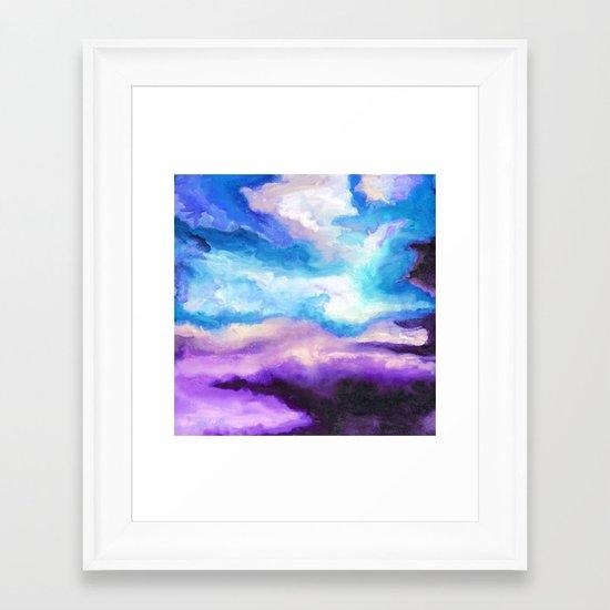 Noche Azul Framed Art Print