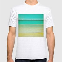 Watercolor Mens Fitted Tee Ash Grey SMALL