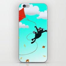 Cat on a Kite - Autumn Cat iPhone & iPod Skin