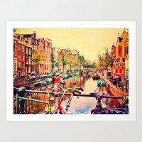 Amsterdam Stroll  Art Print