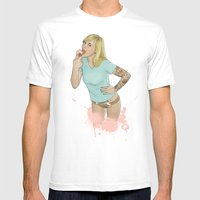 Just Put It In Your Mouth Mens Fitted Tee White SMALL