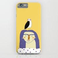Women and Owl, owl art, people, illustration, fashion, style,  iPhone 6 Slim Case