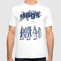Camelot Dogs Mens Fitted Tee White SMALL