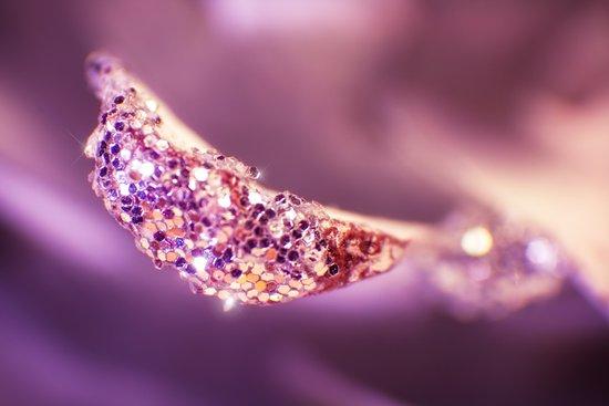 GLAMOUR - Macro in purple and pink tones Art Print