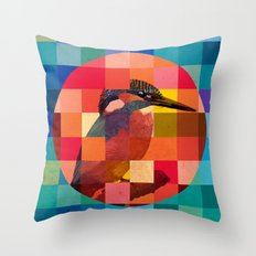 Kingfisher Sunset Throw Pillow