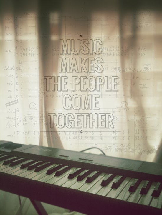 Music makes the people come together Art Print
