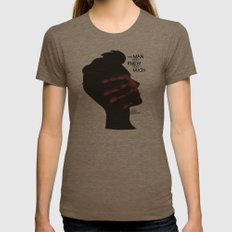The Man who Knew Too Much - Alfred Hitchcock Movie Poster Minimal Womens Fitted Tee Tri-Coffee SMALL