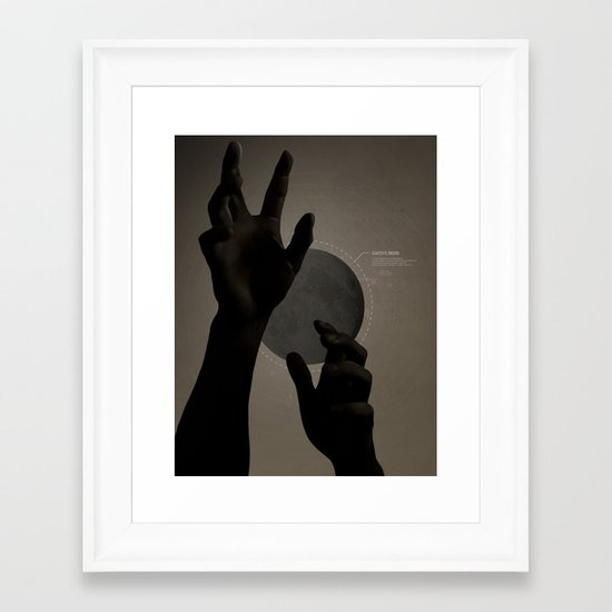 Hand's on the Moon Framed Art Print