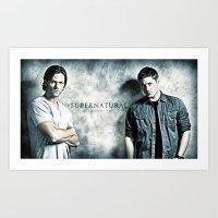 Supernatural - Sam & Dea… Art Print