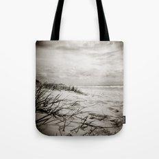 { sand, surf, sun } Tote Bag