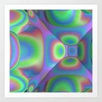 3D-Abstract-Illustration-Pattern Art Print