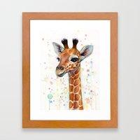 Giraffe Baby Framed Art Print