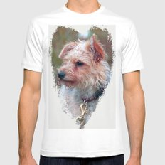 Scruff SMALL Mens Fitted Tee White