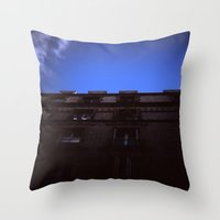 Holga Building Throw Pillow