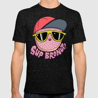 Bronut Mens Fitted Tee Tri-Black SMALL