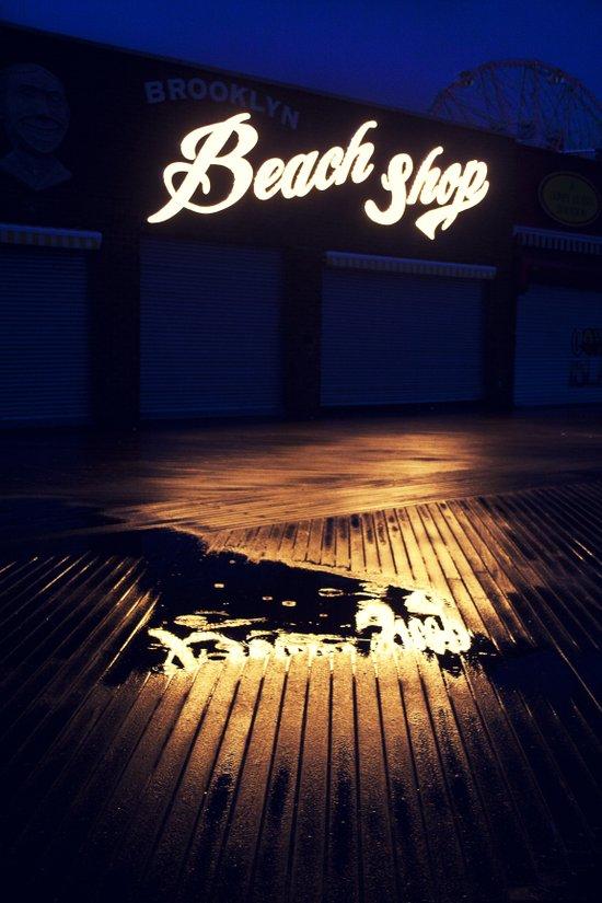 Beach Shop Coney Island Art Print
