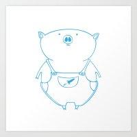 Piggy 15 Art Print