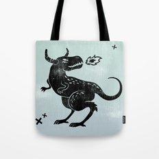 Fire Monster Tote Bag