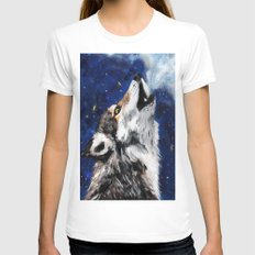 Wolf's breath Womens Fitted Tee White SMALL