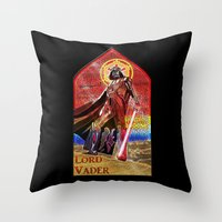 STAR WARS Stained Glass Lord Vader Throw Pillow