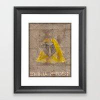 Minimalist Emma Frost Framed Art Print