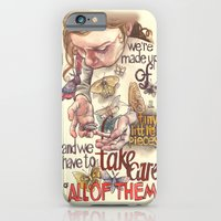 iPhone & iPod Case featuring Tiny Pieces by busymockingbird
