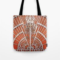 Metal Overlay Tote Bag