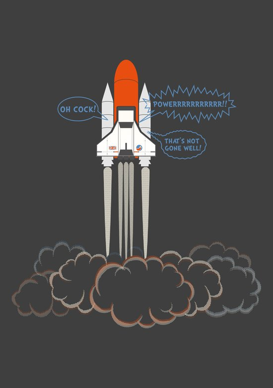 Launch! Art Print