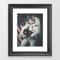 Minty NASA Portrait Framed Art Print