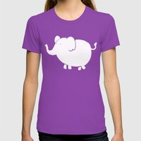 White Elephant  Womens Fitted Tee Ultraviolet SMALL